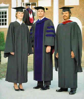 University Graduation Cap and Gowns